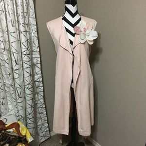 Gap Pink Long Sleeveless Vest XL